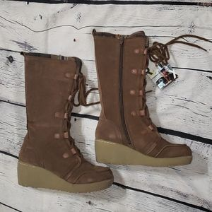 Roxy 'Timber' Wedge Mid Calf Winter Boots - 6